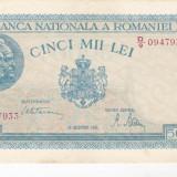 Bnk bn romania 5000 lei 20 decemvrie 1945