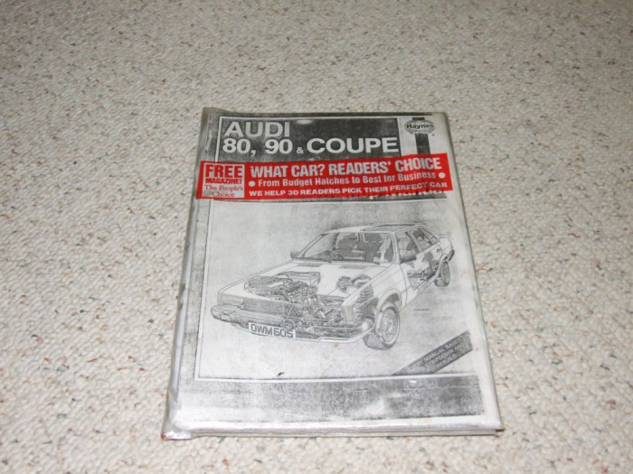 Carte tehnica Haynes Audi 80,90,Coupe foto mare