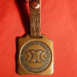 Metal/Fonta - Breloc cu Emblema Comitet Sportiv al Armatelor Prietene CKDA