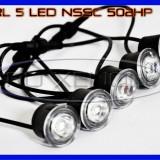 DRL 5-LED 1W - NSSC 502HP - DAYTIME RUNNING LIGHT - LUMINI DE ZI