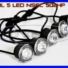 DRL 5-LED 1W - NSSC 502HP - DAYTIME RUNNING LIGHT - Lumini de zi ZDM, Universal