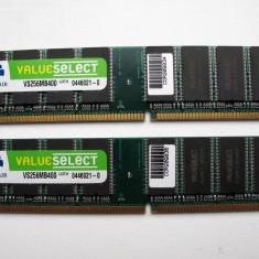 Memorie RAM Corsair, DDR, 256 MB, 400 mhz, Dual channel - KIT Dual Channel 2 x 256mb=512mb DDR1 Corsair Values Select 400 PC3200 |K2|