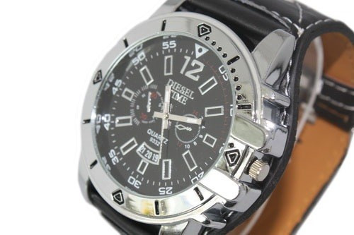 Наручные часы Fashion Japan quartz movement Diesel time brand, retangle watch, good quality 1pcs/lot заказать с