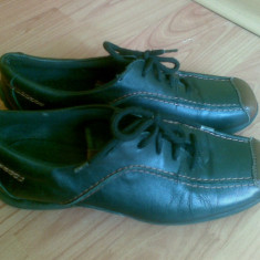 Pantofi dama, Marime: 38, Negru - Pantofi din piele marimea 38, arata impecabil!