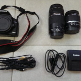 DSLR Canon, Kit (cu obiectiv), 14 Mpx, Full HD - Aparat foto Canon EOS 500D + obiectiv 18-55 mm + obiectiv 75-300mm