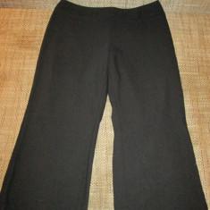 Pantaloni dama Mark & Spencer 3/4 negri marimea 40-42, Culoare: Negru, Trei-sferturi, Negru