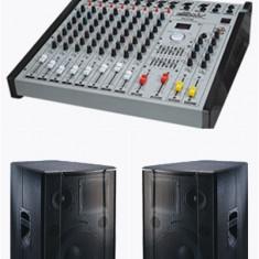 Mixere DJ - Statie si boxe stare impecabila 700 watiVLIODOR PROFESIONAL, Boxe de 500 Wati bucata