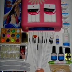 Unghii false - Kit perfect pentru tine cu 58 produse : gel, lampa uv. . .LIVRARE GRATUITA