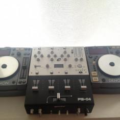 Console DJ - Kit complet DJ 2* Playere DENON DN S100, 1* Mixer GEMINI PS-04, 1* Casti PIONEER SE-M280