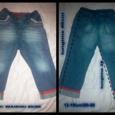 Haine Copii 1 - 3 ani, Blugi, 86 (1 an, inaltime 81 - 86 cm), Albastru - Blugi WAIKIKI fetite
