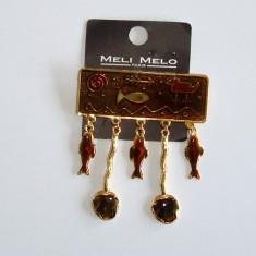 Brosa femei - cu pandantive Meli Melo - Brosa Fashion