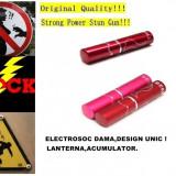 ELECTROSOC DAMA ASCUNS IN RUJ, FII IN SIGURANTA ORIUNDE+LANTERNA+ACUMULATOR., Cu lanterna