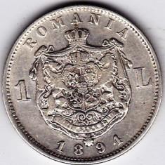 Monede Romania - 3)Moneda argint 1 leu 1894