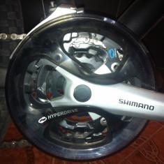 Cross Rider - Bicicleta Cross, 22 inch, 26 inch, Numar viteze: 21, Aluminiu, Negru mat