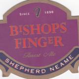 Suport de pahar / Biscuite BISHOPS FINGER - Cartonas de colectie