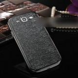 Carcasa Glamour NEGRU + ARGINTIU pentru Samsung Galaxy S3 / I9300 - aluminiu rezistent