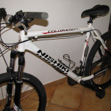 Bicicleta MTB Nishiki Colorado XC cu imbunatatiri - Mountain Bike Nespecificat, 21 inch, 26 inch, Numar viteze: 27, Aluminiu, Alb