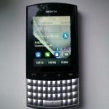 Vand/Schimb Nokia asha 303 - Telefon Nokia, Gri, Neblocat, Touchscreen+Taste, 3.2 MP, 2G & 3G