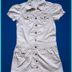DE FIRMA _ Rochie subtire, de vara, chic, marca H&M _ fete | 8 - 9 ani |134 cm, Culoare: Bej