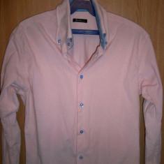 Camasa barbati, M, Maneca lunga, Roz - Camasa Barlet roz marimea M bumbac 100%