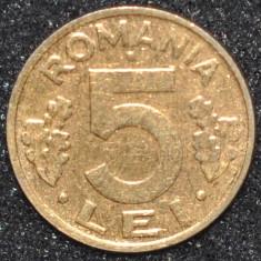 Monede Straine - ROMANIA 5 LEI 1995 PLACATA CU AUR (IN REALITATE ARATA MULT MAI BINE)