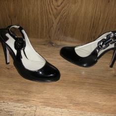 LICHIDARE STOC!Pantofi lux dama Ted Baker London originali piele lacuita Sz 35 - Pantof dama Ted Baker, Marime: 35.5, Culoare: Negru, Piele naturala