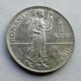 V- 1 leu 1911 de colectie ! Matrita crapata - Moneda Romania