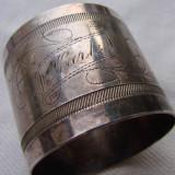 Suport pentru servetele personalizat, marcat Gab.NS - Argint, Ornamentale