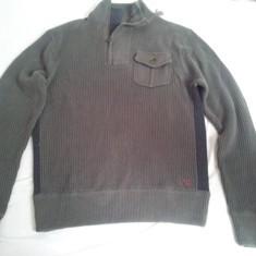 Vand pulover guess - Pulover barbati Guess, Marime: M, L, Culoare: Khaki, M, Cu fermoar, Bumbac