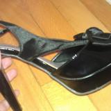Sandale negre, elegante - Sandale dama, Marime: 37, Culoare: Negru