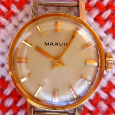 * Ceas Marvin 1945-1955 - New Old Stock - rar - placat aur - Ceas dama, Lux - elegant, Mecanic-Manual, Placat cu aur, Analog, 1940 - 1969