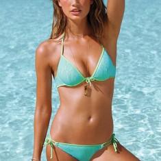 Costum de baie Victoria's Secret - Marime L - minunat, Marime: L, Culoare: Verde, Verde, Doua piese, L
