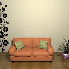 Autocolant - sticker decorativ de perete - Ghirlanda de flori 1 - Tapet