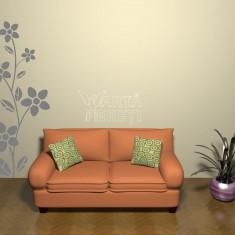 Autocolant - sticker decorativ de perete - 25cm x 70cm - Flori 1