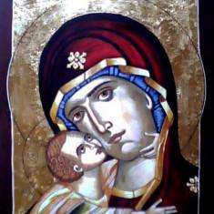 Icoana cu foita de aur - Vand icoana cu Maica Domnului si IIsus