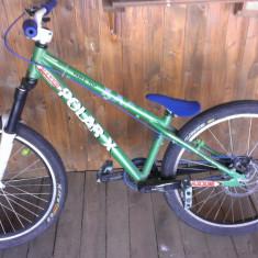 Mountain Bike, 26 inch, Numar viteze: 1, Aluminiu, Verde-Albastru, Discuri - !! Dirt/Street NOU Super pret