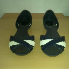 Sandale Zara TRF - Sandale dama, Marime: 38, Bleumarin