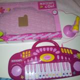 Instrumente muzicale copii - ORGA BONTEMPI CU MICROFON (ROZ)