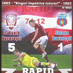FC RAPID vs STEAUA - Program meci