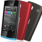 Telefon mobil Nokia 500, Negru, 2GB, Neblocat, Single core, 1 GB - Vand nokia 500 black nou liber de retea