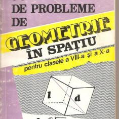 (C4283) CULEGERE DE PROBLEME DE GEOMETRIE IN SPATIU PENTRU CLASELE A VIII-A SI A X-A DE PETRUTA GAZDARU, D. BADESCU, EDITURA VIITORUL ROMANESC, 1995 - Carte Matematica