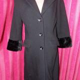 Palton dama, M/L - Palton negru S.Oliver