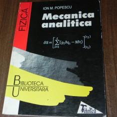 IOAN M POPESCU - MECANICA ANALITICA. fizica - Teste Bacalaureat