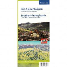 Harta Turistica - Schubert & Franzke Harta Panorama Sud Transilvania - Tara Bisericilor Fortificate ( Biserica, Biserici )
