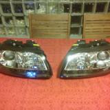 Faruri Tuning DEPO Audi A4 2001-2004 design pe negru dayline cu leduri si lupa TFL Optik D1S+H7