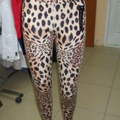Pantaloni dama, Lungi - Pantaloni tip colant imitatie tigru
