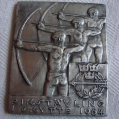 Placheta sportiva 1964 argintata, Europa