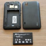 Telefon mobil LG Optimus Black, Negru, Neblocat, Fara procesor, 512 MB, Touchscreen - Vand / Schimb Lg optimus p970 black !