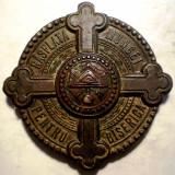 Medalii Romania - 5.289 MEDALIE ROMANIA CAROL II RASPLATA MUNCEI PENTRU BISERICA 38mm