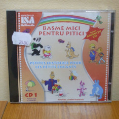 BASME MICI PENTRU PITICI VOL.1 - PETITES HISTOIRES POUR LES PETITS ENFANTS (CD) SIGILAT!!! - Muzica pentru copii